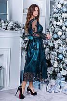 Платье нарядное миди коктейльное в расцветках 165088П, фото 2