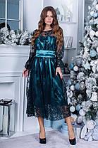 Плаття нарядне міді коктейльне в кольорах 165088, фото 2