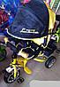 Велосипед Lambortrike колеса пенорезина желтый