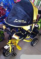 Велосипед Lambortrike колеса пенорезина желтый, фото 1
