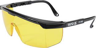 Очки защитные YATO желтое стекло