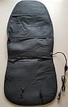 Накидка на сиденье с подогревом черная высокая 12В ДК, фото 3