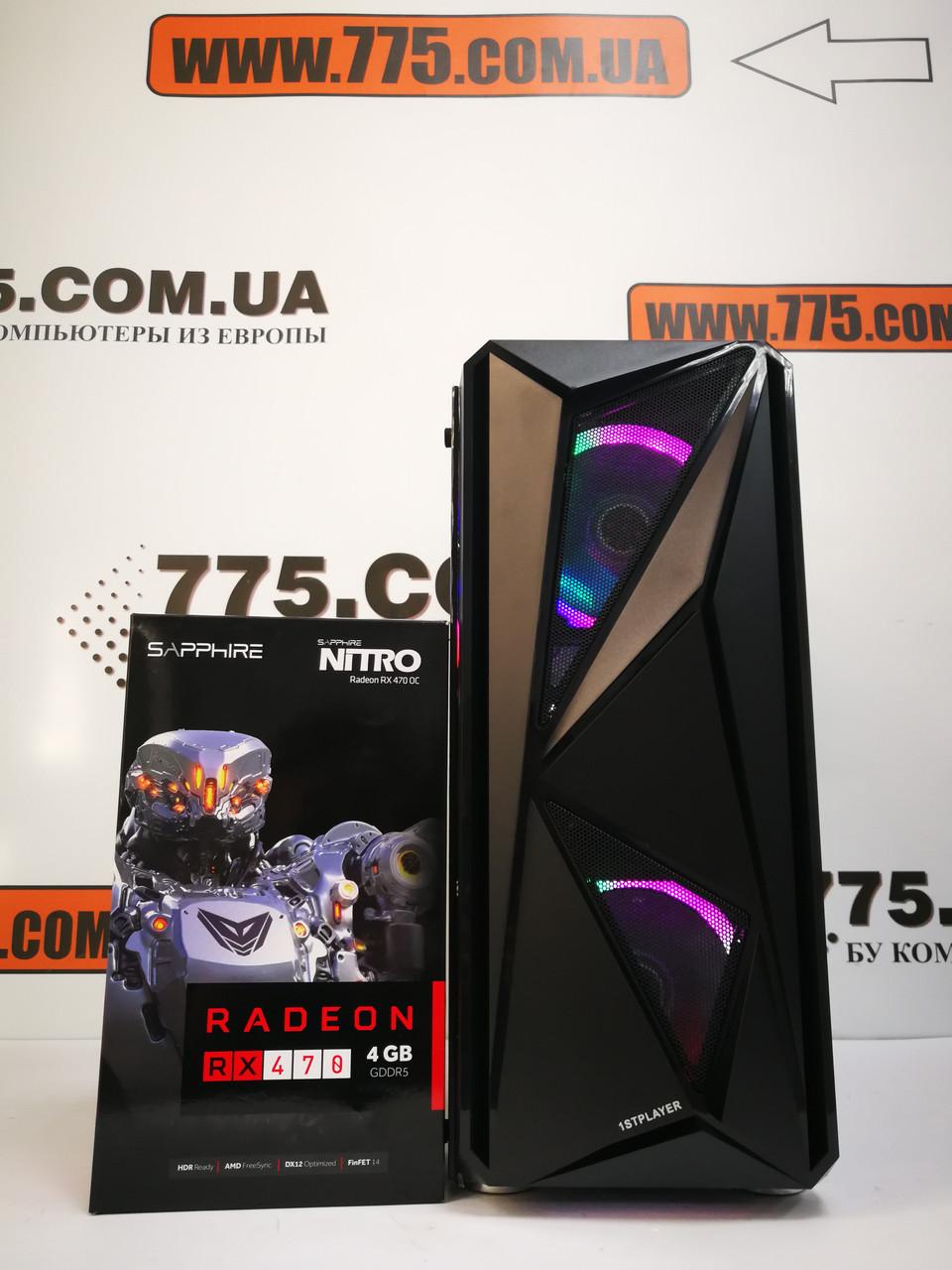 Игровой компьютер, Intel Core i5-2400 3.4GHz, RAM 8ГБ, SSD 120ГБ, HDD 500ГБ, RX 470 4ГБ