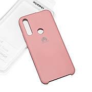 Cиликоновый чехол на Huawei P Smart Z Soft-touch Pink