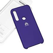Cиликоновый чехол на Huawei P Smart Z Soft-touch Violet
