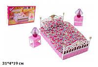 Мебель для кукол Gloria 99001 спальня свет