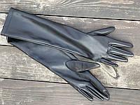 Рукавички довгі з екошкіри GLDx1 чорні, фото 1