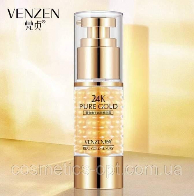 Эмульсия для век с частичками золота против мимических морщин VENZEN 24K Pure Gold, 35 ml