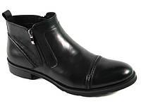 Зимние мужские ботинки ROZOLINI 860-3-2M чер скидки