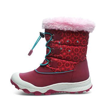Детские зимние сапоги для девочки на меху Uovo Красные (52064)