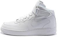 Мужские кроссовки Nike Air Force High Winter White С МЕХОМ высокие зимние Найк Аир Форс белые