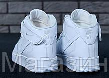 Мужские кроссовки Nike Air Force High Winter White С МЕХОМ высокие зимние Найк Аир Форс белые, фото 2
