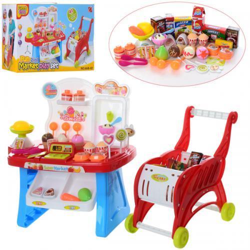 Игровой набор магазин 668-42 прилавок тележка с продуктами