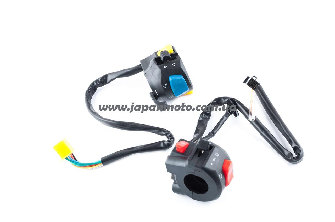 Блоки кнопок руля (пара) Zongshen ZS125J (черные) HORZA