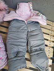 Качественный зимний комбинезон на девочку, фото 3