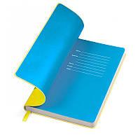"Бизнес-блокнот ""Funky"" желто-синий, Польша, под нанесение логотипов на обложке методом тиснения, фото 1"
