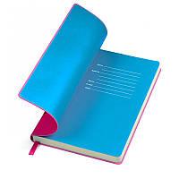 "Бизнес-блокнот ""Funky"" розово-синий, Польша, под нанесение логотипов на обложке методом тиснения, фото 1"