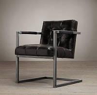 """Кресло """"Босс"""", кресло лофт, мягкое кресло, кресло для дома, офиса, кафе, кресло на металлическом каркасе,"""