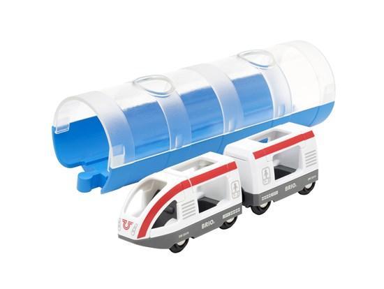 BRIO World АКСЕССУАРЫ ТРАНСПОРТ Пассажирский поезд и тоннель 33890