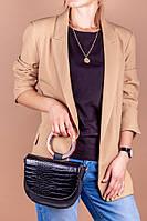 Сумка с ручкой кольцо (чёрная) женская сумочка