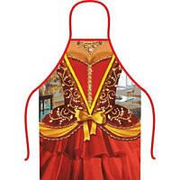 Фартук прикольный Королева, 50х70 см, Плотный габардин, 2323