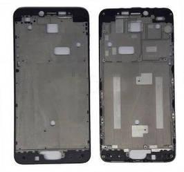 Рамка корпус Meizu M3 Note черная (M681H)