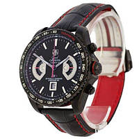 Мужские часы Tag Heuer Grand Carrera Calibre 17 RS2 Quartz All Black-Red