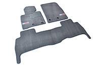 Коврики в салон ворсовые для Toyota Land Cruiser 200 (2013-) 5мест /Серые Premium 3шт GRLX1635