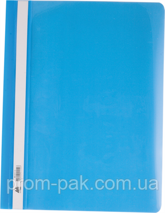 Скоросшиватель для бумаги Buromax ,голубой, фото 2