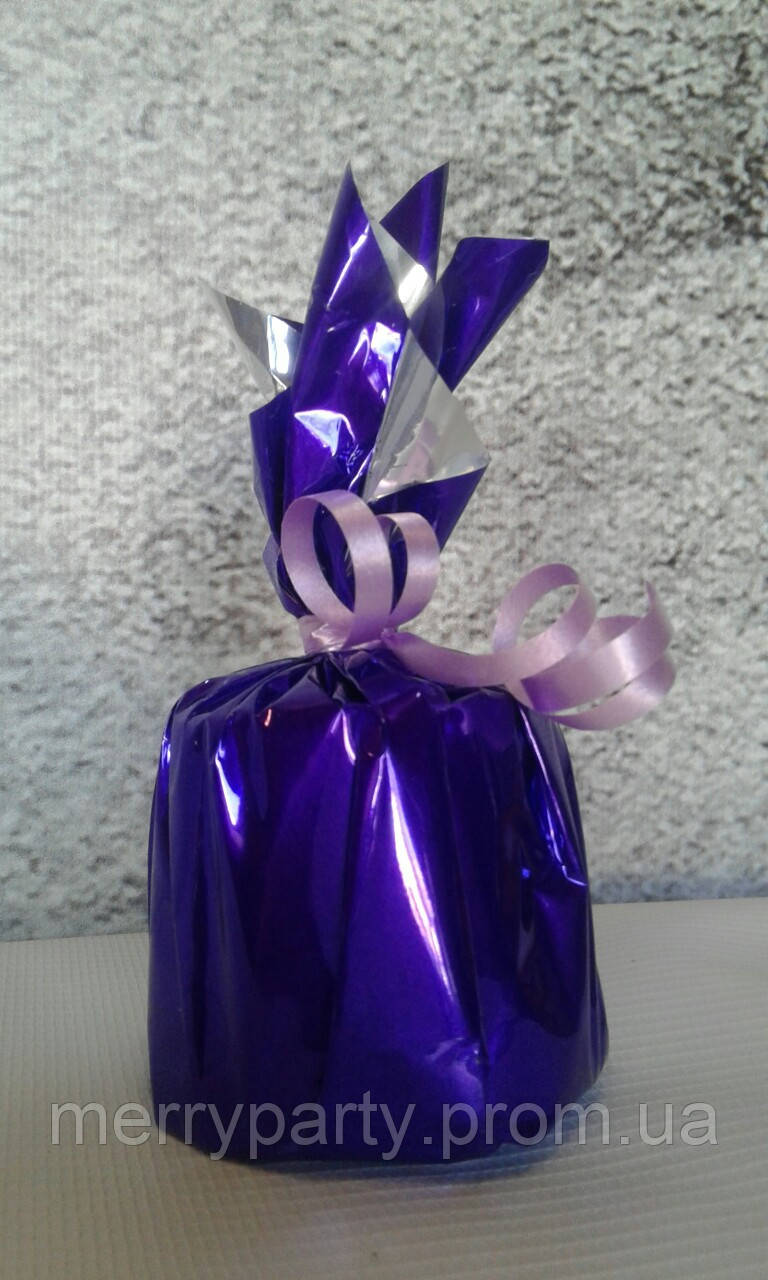 """Грузик для шаров фиолетовый 120 г (до 12 шаров 12"""" (30 см)) гипсовый"""