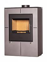 Дровяная отопительная печь-камин FLAMINGO EVENES серый (до 200 м3)