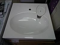 Раковина на стиральную машину 60х60 см (камень) белая (двойное покрытие гелькоутом)