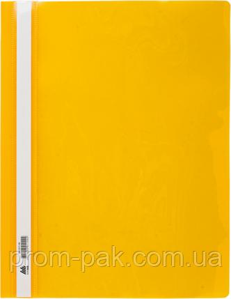 Скоросшиватель А4 для файлов BUROMAX  цвет: желтый, фото 2