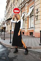 Женский костюм-двойка сарафан и гольф /черно-белый, 42-46, LL-022/, фото 3