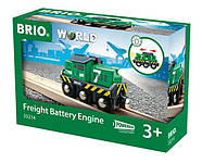 BRIO World АКСЕССУАРЫ ТРАНСПОРТ Грузовой локомотив на батарейках 33214, фото 2