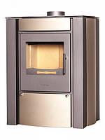 Дровяная отопительная печь-камин FLAMINGO AMOS кремовый металик (до 200 м3)