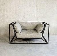 """Кресло """"Арт"""", кресло лофт, мягкое кресло, кресло для дома, офиса, кафе, кресло на металлическом каркасе"""
