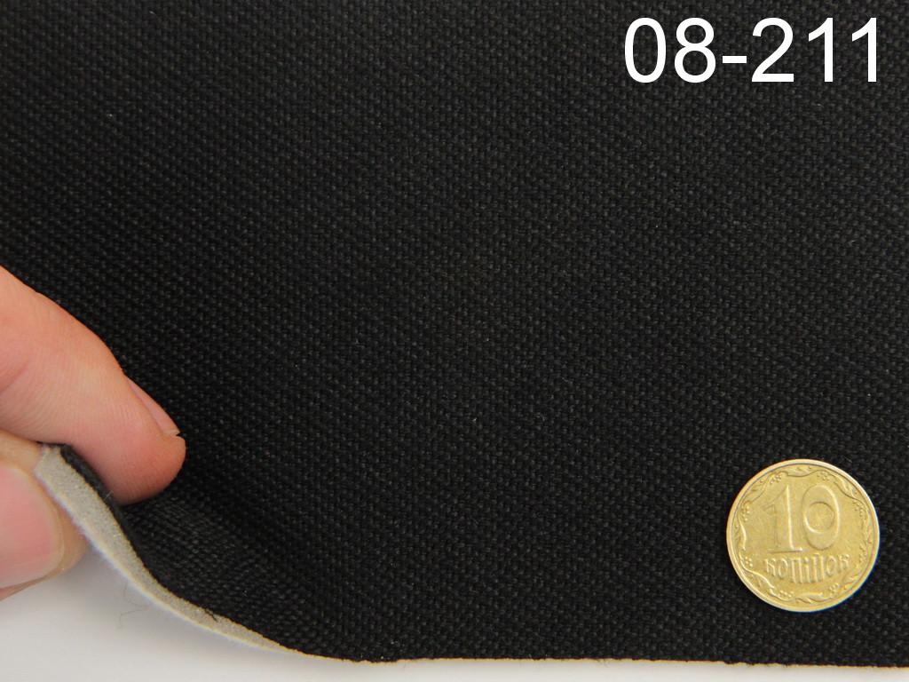 Авто-ткань (Германия) для боковой части автомобиля, черная, на поролоне войлоке, ширина 1.60м 08-211