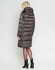 Воздуховик Braggart Angel's Fluff 29775 | Зимняя женская куртка капучино, фото 3
