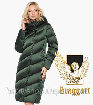 Воздуховик Braggart Angel's Fluff 30952 | Зимняя куртка женская зеленая, фото 2