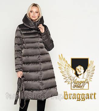 Воздуховик Braggart Angel's Fluff 31515 | Куртка женская на зиму капучино, фото 2