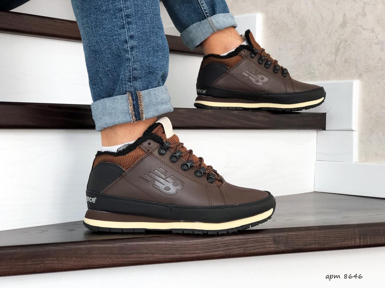 Мужские зимние кроссовки New Balance 754,коричневые