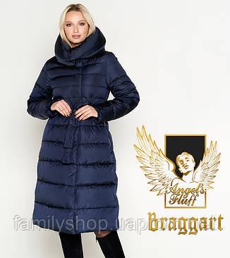 Воздуховик Braggart Angel's Fluff 31515 | Зимняя куртка женская синяя, фото 2
