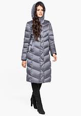 Воздуховик Braggart Angel's Fluff 31024 | Длинная женская куртка жемчужно-серая, фото 2