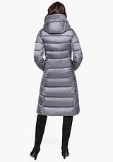 Воздуховик Braggart Angel's Fluff 31024 | Длинная женская куртка жемчужно-серая, фото 3