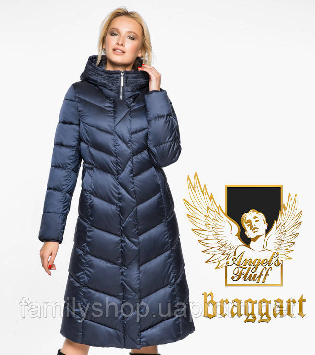 Воздуховик Braggart Angel's Fluff 31024 | Куртка женская зимняя синий бархат