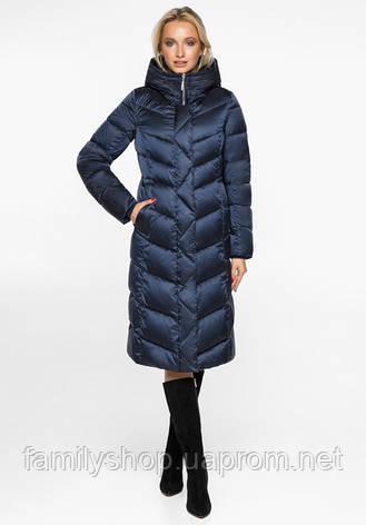 Воздуховик Braggart Angel's Fluff 31024 | Куртка женская зимняя синий бархат, фото 2