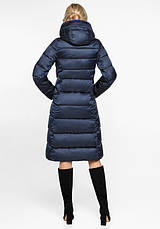 Воздуховик Braggart Angel's Fluff 31024 | Куртка женская зимняя синий бархат, фото 3