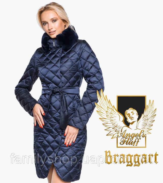 Воздуховик Braggart Angel's Fluff 31030   Теплая женская куртка синий бархат