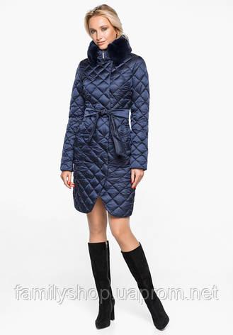 Воздуховик Braggart Angel's Fluff 31030   Теплая женская куртка синий бархат, фото 2